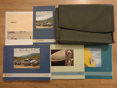 Renault Clio Owners Handbook/Manual and Wallet 05-09