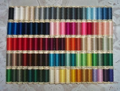 100 NEW Different colors GUTERMANN 100% polyester sew-all thread 110 yd spools