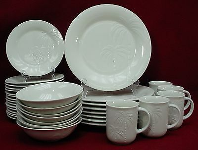 ONEIDA china PALM pattern 37 Piece Set - dinner/salad/mug/soup