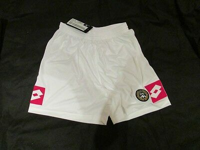 Lotto Udinese Vintage Home Football Shorts BNWT White XL Mens