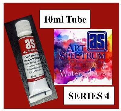 ART SPECTRUM FINEST ARTIST WATERCOLOUR 10ml TUBE CADMIUM DEEP RED SERIES 4