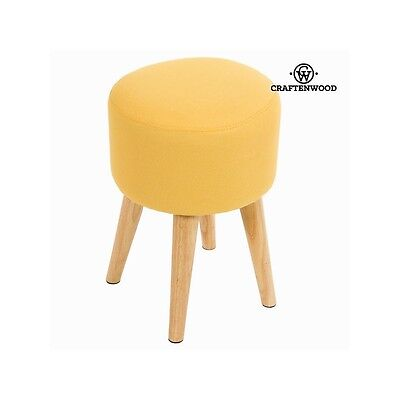 Tabouret rond sixty ocre - Collection Love Sixty by Craften Wood - Neuf