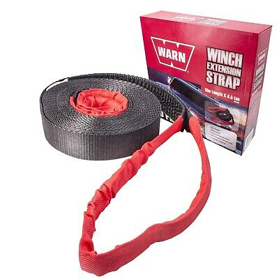 Warn 10M Metre Winch Extension Strap 4.5 Ton Recovery 4Wd 4X4 Tow Tree Wwes10