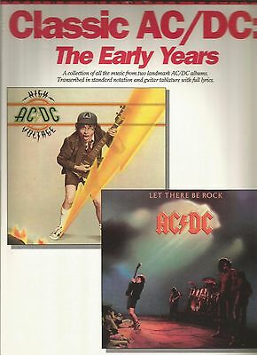 AC/DC Early Years High Voltage Let There Be Rock Guitar Tab Tablature Song Book