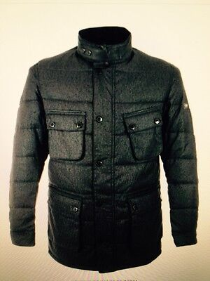 New Barbour International Bootle Charcoal Quilted Jacket M £249