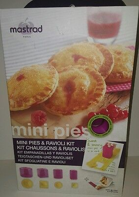 Mastrad Mini Pies & Filled Pasta 9pc Mold Cutter Kit with Recipe Booklet In Box