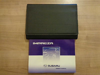 Subaru Impreza Owners Handbook/Manual and Wallet 00-02