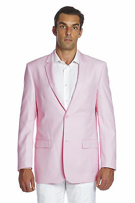 CONCITOR Men's Suit Jacket Separate Blazer Coat Solid PINK Color Two Button
