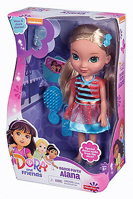 """Fisher Price Nickelodeon Dora and Friends Dance Party Alana Doll 8 1/2"""" w/Charm"""