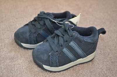Gymboree Navy Suade Leather Active Shoes Toddler Sz 2 NWT