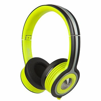 Monster iSport Freedom Bluetooth Wireless On-Ear Headphones - Black/Green *New**