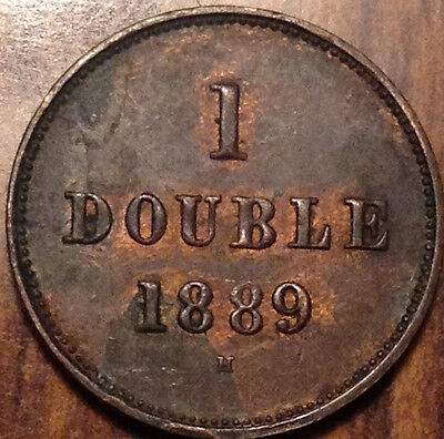 1889H Guernesey 1 Double In Superb Hg Condition !!!