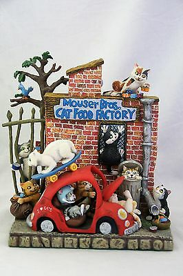 Danbury Mint Kitty Citty Mouser Bros Cat Food Factory Gary Patterson Figurine