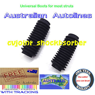 2 Universal Dust Cover Boots for Strut Shock Absorbers