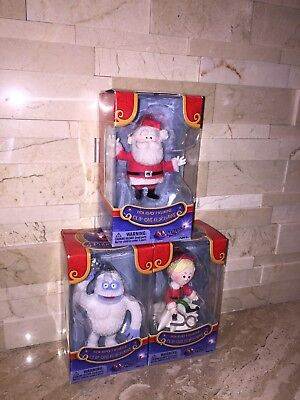 Rudolph The Red Nosed Reindeer  3 Pc Clip Ons Keychain Santa Bumbles & Hermey