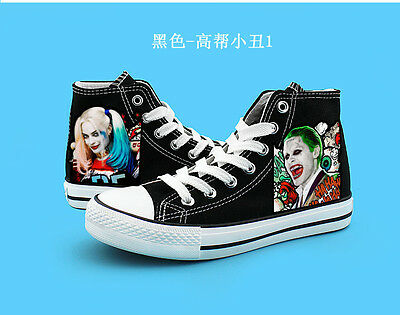 Suicide Squad Harley Quinn Joker  High Canvas Shoes Casual Sneakers Boys&Girls