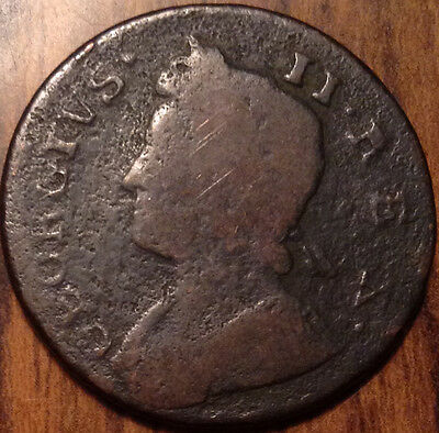 1738 Gb Half Penny In Good Condition