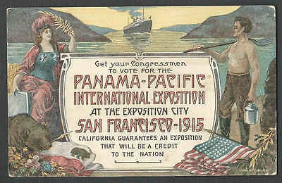 1915* Vintage San Francisco Ppie Poster On Post Card Posted 1911