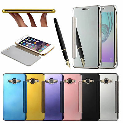 Luxury Mirror Touch Smart Clear View Leather Ultra Slim Case Cover For Phones