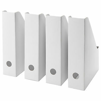 Ikea FLUNS | Office Magazine File | White | Book Stationery Storage Box