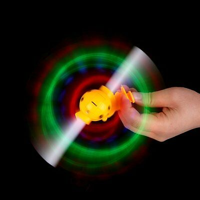 2X(Light-Up LED Flashing Spinning Windmill Show With Sound Kids Toy Q4)