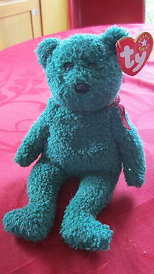 ORIGINAL TY BEANIE BABIES 2001 Holiday Teddy the Bear RETIRED