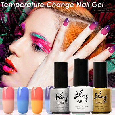 Pro UV LED Temperatura Cambia El Color Manicura Esmalte De Uñas De Gel