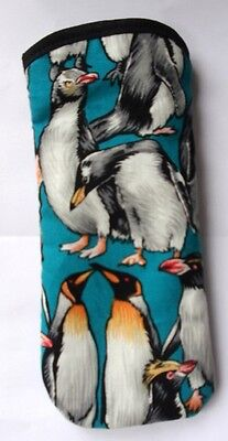 PENGUINS - ALL SORTS- ALL OVER  -GLASSES CASE -   ideal small gift