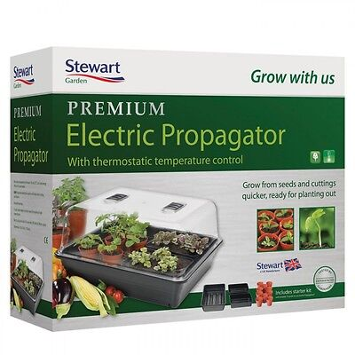 Stewart Premium Thermostat Control Heated Electric Plant Seed Propagator - 52cm