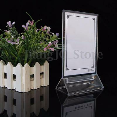 A4 Transparent Clear Acrylic Menu Card Holder Poster Leaflet Sign Display Stand