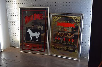 Collectable Barware  Mirrors Whitehorse Scotch Whisky /Private Bar Man Cave