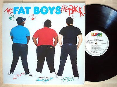 The Fat Boys Are Back LP WEA Sutra 252 368-1 1985 EX/NM