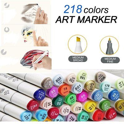 New Marker Pen Of Touch 80 168 218 Set Graphic Art Drawing Twin Tip Glove Gift