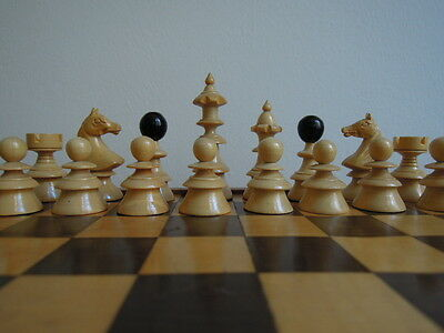 Small antique chess set + board / Schachset + Brett / Ajedrez/ Echec/scacchi