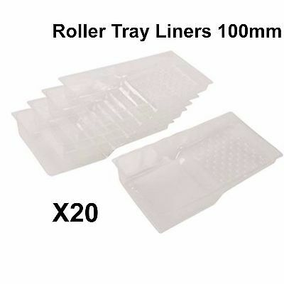 20 x Paint Roller Tray Liners Disposable 100mm PVC Crosshatch Painting Paint 26a