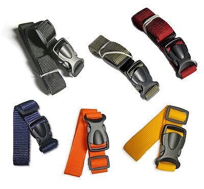 Compression Luggage Strap 65 cm - 100 cm Quick Release Buckle 20mm - 5 colours