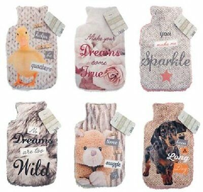 Snugg Warmers Hot Water Bottles with Sherpa Cover