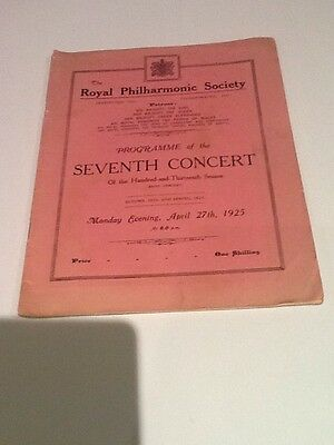 Queens Hall 1925 - Royal Philharmonic Society Concert. Malcolm Sargent