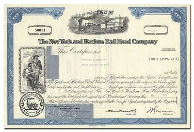 New York and Harlem Railroad Company Stock Certificate
