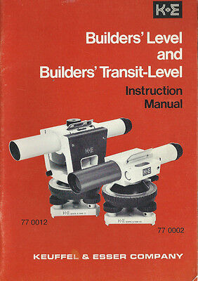 Keuffel & Esser Builders' Level & Transit-Level Instruction Manual