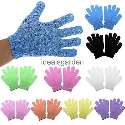 1 Pair Shower Exfoliating Wash Spa Bath Gloves Massage Clean Dead Skin Remover