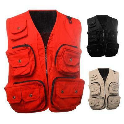 Fly Fishing Vest Clothes Multi-pocket Sleeveless Jacket for Photography Director