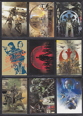 Topps Star Wars - Rogue One Series 1 - Montage Insert Set (9)
