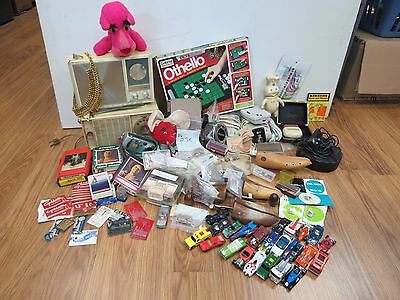 VINTAGE JUNK DRAWER COLLECTIBLE LOT of 105 PC. #534