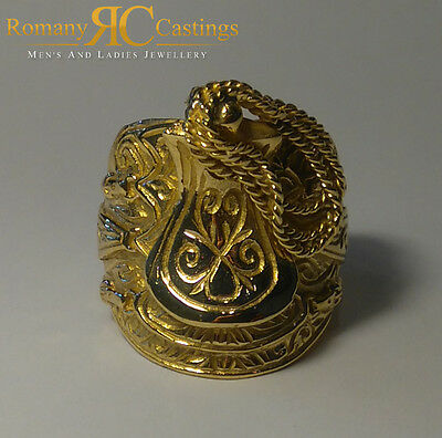 Saddle Jewellers Bronze Ring EXTRA LARGE VERY HEAVY 38 Grams Size Y