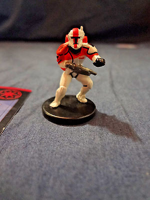 Star Wars Miniatures Game Figure with card Universe Commando Boss 33/60 2006