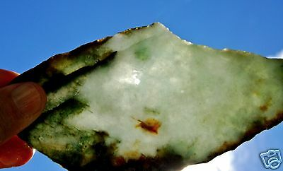 Jadeite Fine Multi  Green Color Slab 92 Grams- 3.2 Oz S. E. Asia