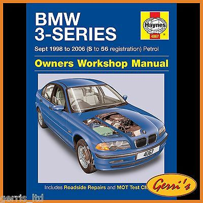 4067 Haynes BMW 3-Series Petrol (Sept 1998 - 2006) S to 56 Service Manual