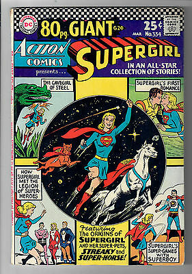ACTION COMICS #334 - Grade 5.0 - Silver Age Supergirl 80 Page GIANT!