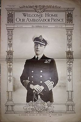 Welcome Home To Our Ambassador Prince Wales The Times 1920 Australia New Zealand